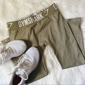 Gymshark Fit Cropped Leggings Khaki